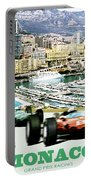 Monaco Grand Prix Racing Poster - Original Art Work Portable Battery Charger