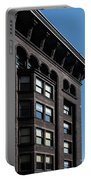 Monadnock Building Cornice Chicago B W Portable Battery Charger
