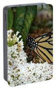 Monarch And The Butterfly Bush  Portable Battery Charger