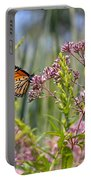 Monarch Butterfly In Joe Pye Weed Portable Battery Charger