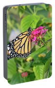 Monarch Butterfly On A Flower  Portable Battery Charger