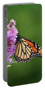 Monarch Butterfly On Butterfly Bush 2011 Portable Battery Charger