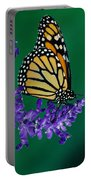 Monarch Butterfly On Flower Blossom Portable Battery Charger
