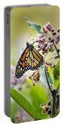 Monarch Butterfly On Milkweed Portable Battery Charger