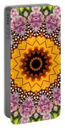 Monarch Butterfly On Milkweed Kaleidoscope Portable Battery Charger