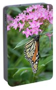 Monarch Butterfly On Pink Flowers  Portable Battery Charger