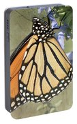 Monarch Butterfly Textured Background Portable Battery Charger