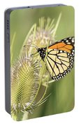 Monarch On A Thistle  Portable Battery Charger