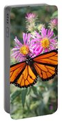 Monarch On Blanket Flower Portable Battery Charger