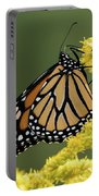 Monarch On Goldenrod Portable Battery Charger