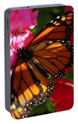 Monarch On Summer Geraniums Portable Battery Charger