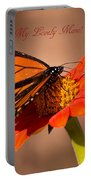 Monarch On Tithonia Mother's Day Gifts Portable Battery Charger