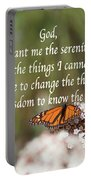 Monarch Serenity Prayer Portable Battery Charger