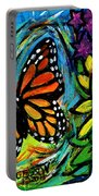 Monarch With Milkweed Portable Battery Charger
