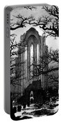 Monastery Graveyard In The Snow Cdf Portable Battery Charger