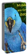Monday For The Birds Portable Battery Charger