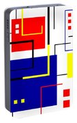 Mondrian Redux Portable Battery Charger by Tara Hutton