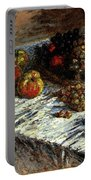 Monet Claude Still Life Apples And Grapes Portable Battery Charger