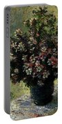 Monet Claude Vase Of Flowers Portable Battery Charger
