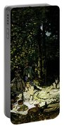 Monet Dejeuner Sur L Herbe A Chailly Portable Battery Charger
