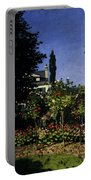 Monet Garden In Flower At Sainte Adresse Portable Battery Charger