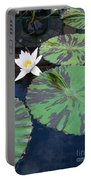 Monet Lilies White  Portable Battery Charger