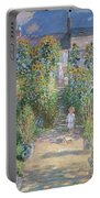 Monet's Garden At Vetheuil Portable Battery Charger