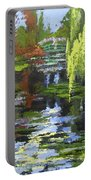 Monets Garden Painting Palette Knife Portable Battery Charger
