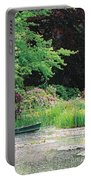 Monet's Garden Pond And Boat Portable Battery Charger