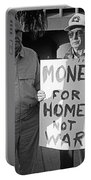 Money For Homes Not War Anti Gulf War Rally Tucson Arizona 1991 Portable Battery Charger