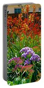 Yellow-orange Kangaroo Paws And Sea Lavender By Napier At Pilgrim Place In Claremont-california Portable Battery Charger
