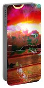 www.nospankingthemonkey.com Monkey Painted Italy On A Moon Lit Night Portable Battery Charger