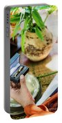 Monks Blessing Buddhist Wedding Ring Ceremony In Cambodia Portable Battery Charger