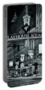 Monochrome Grayscale Palyhouse Square Portable Battery Charger