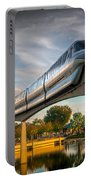 Monorail At Golden Hour Portable Battery Charger