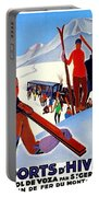 Mont Blanc, Mountain, France, Skiing Portable Battery Charger