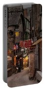 Mont-st-michel, Grand Rue At Night Portable Battery Charger