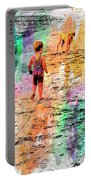 Montanita Kid With Dog Portable Battery Charger