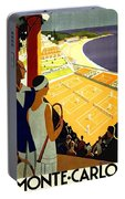 Monte Carlo, French Riviera, Tennis Club Portable Battery Charger