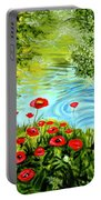 Monte Rio Poppies Portable Battery Charger