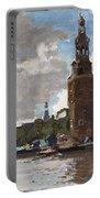 'montelbaanstoren' In Amsterdam By Cornelis Vreedenburgh Dutch 1880-1946 Portable Battery Charger