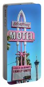Monterey Motel Sign And The Stratosphere Portable Battery Charger