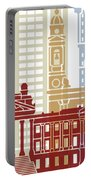 Montevideo Skyline Poster Portable Battery Charger