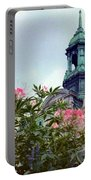 Montreal Bldg Among Flowers Portable Battery Charger
