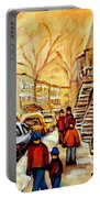 Montreal City Scene In Winter Portable Battery Charger