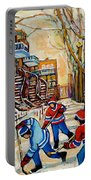 Montreal Hockey Game With 3 Boys Portable Battery Charger