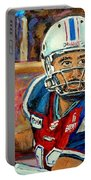 Montreal Je Me Souviens By Montreal Streetscene Artist Carole Spandau Portable Battery Charger