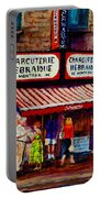 Montreal Paintings  Available For Fundraisers By Streetscene  Artist Carole Spandau  Portable Battery Charger