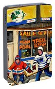 Montreal Poolroom Hockey Fans Portable Battery Charger