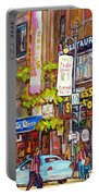 Montreal St.catherine Street Corner Peel Portable Battery Charger